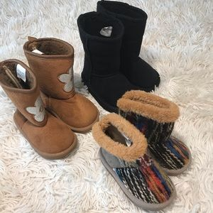adorable baby girl boots (lot of 3)